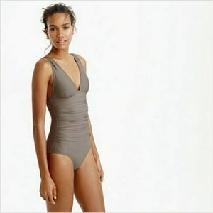 J. Crew Ruched Femme DD Cup One Piece Swimsuit